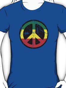 Rasta Peace - Distressed T-Shirt