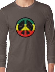 Rasta Peace and love - Distressed Long Sleeve T-Shirt