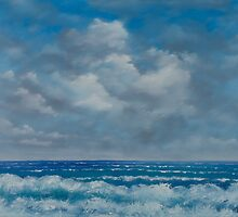 Ocean View Seascape in Oil by ArmstrongArt
