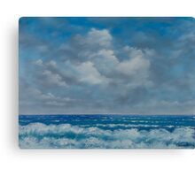 Ocean View Seascape in Oil Canvas Print