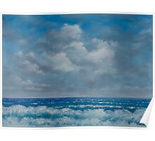 Ocean View Seascape in Oil Poster