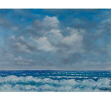 Ocean View Seascape in Oil Photographic Print