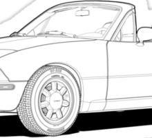 Mazda MX-5 Miata MK1 Line Illustration Sticker