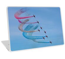 The Red Arrows with red, white and blue trails Laptop Skin