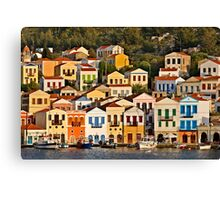 United colors of Kastellorizo Canvas Print
