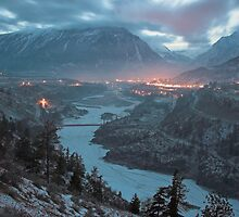 Lillooet at dusk, BC, Canada by Christopher Barton