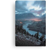 Lillooet at dusk, BC, Canada Canvas Print
