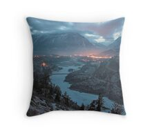Lillooet at dusk, BC, Canada Throw Pillow