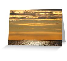 Golden sunset over the ocean Greeting Card