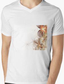 Soft Fractal Flowers Mens V-Neck T-Shirt