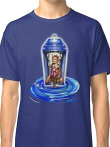 11th Doctor with Blue Phone box in time vortex Classic T-Shirt