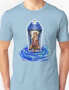 11th Doctor with Blue Phone box in time vortex Unisex T-Shirt