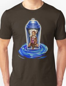 11th Doctor with Blue Phone box in time vortex T-Shirt