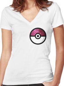 Glitter Pokemon Women's Fitted V-Neck T-Shirt