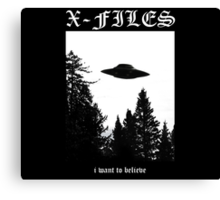 X-Files I Want To Believe Canvas Print