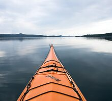 Waldo Lake kayak, Oregon by Christopher Barton