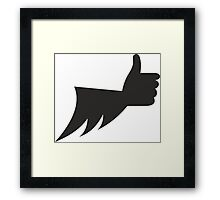 The Batlike !!! Framed Print