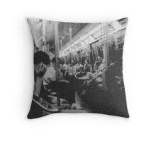 On the Subway Throw Pillow