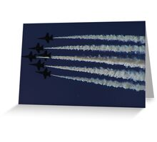 Blue Angels in Silhouette Greeting Card