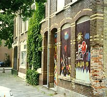 History echoes - urban decay. The street where I grew up.  by MrJoop