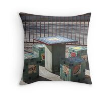 A Square Meal? Throw Pillow