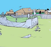 Suburban sk8ters by Andrew Hennig