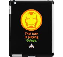 IRON MAN: That Man is Playing Galaga iPad Case/Skin
