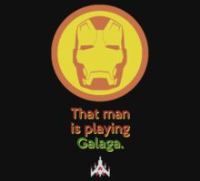 IRON MAN: That Man is Playing Galaga by zenjamin