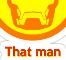 IRON MAN: That Man is Playing Galaga Sticker