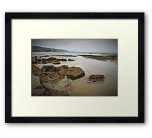 Rocks at Wonoona Beach Framed Print