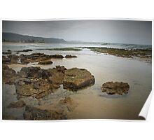 Rocks at Wonoona Beach Poster