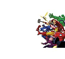 avengers attack Photographic Print