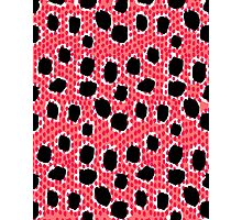Jenjo - Modern pattern print coral black and white bold pattern cell phone case animal spots girly Photographic Print