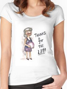 Quirky Mothers day card  Women's Fitted Scoop T-Shirt