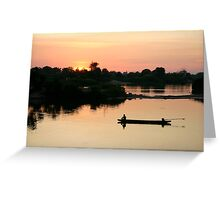 A lazy afternoon on the Mekong Greeting Card