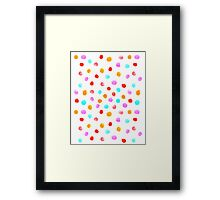 Pastel Watercolor drops falling simple polka dot cell phone white modern design painting abstract Framed Print