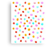 Pastel Watercolor drops falling simple polka dot cell phone white modern design painting abstract Metal Print