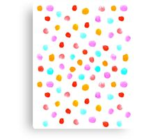 Pastel Watercolor drops falling simple polka dot cell phone white modern design painting abstract Canvas Print