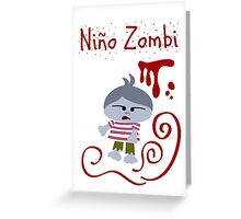 Niño Zombi Greeting Card
