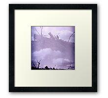 Wooden Sky Boat Framed Print