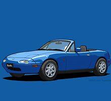 Eunos Roadster MK1 Mariner Blue by DigitalCel