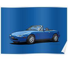 Eunos Roadster MK1 Mariner Blue Poster