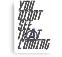 Quicksilver's quote. Canvas Print