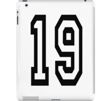 19, TEAM SPORTS, NUMBER 19, NINETEEN, NINETEENTH, Competition,  iPad Case/Skin