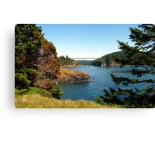 Deception Pass Bridge Seven Canvas Print