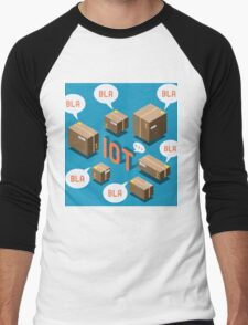 Isometric Internet of Things Concept Men's Baseball ¾ T-Shirt