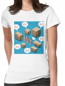 Isometric Internet of Things Concept Womens Fitted T-Shirt