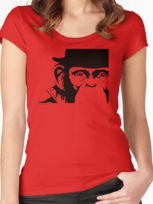 Lancelot Link Chimp Face Women's Fitted Scoop T-Shirt