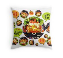 Mr. Foodie Mons Throw Pillow