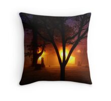Eerie Colors Throw Pillow